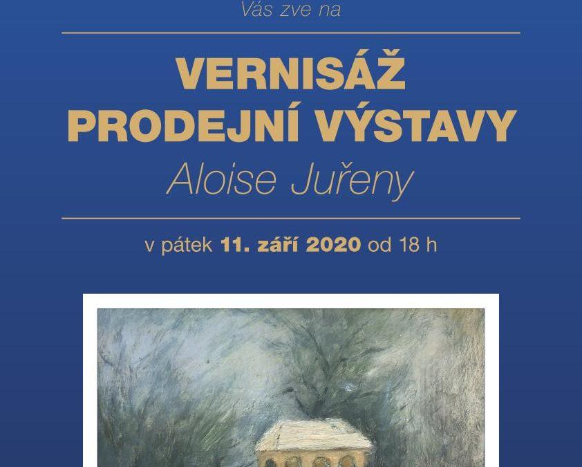 Vernisáž prodejní výstavy Aloise Juřeny